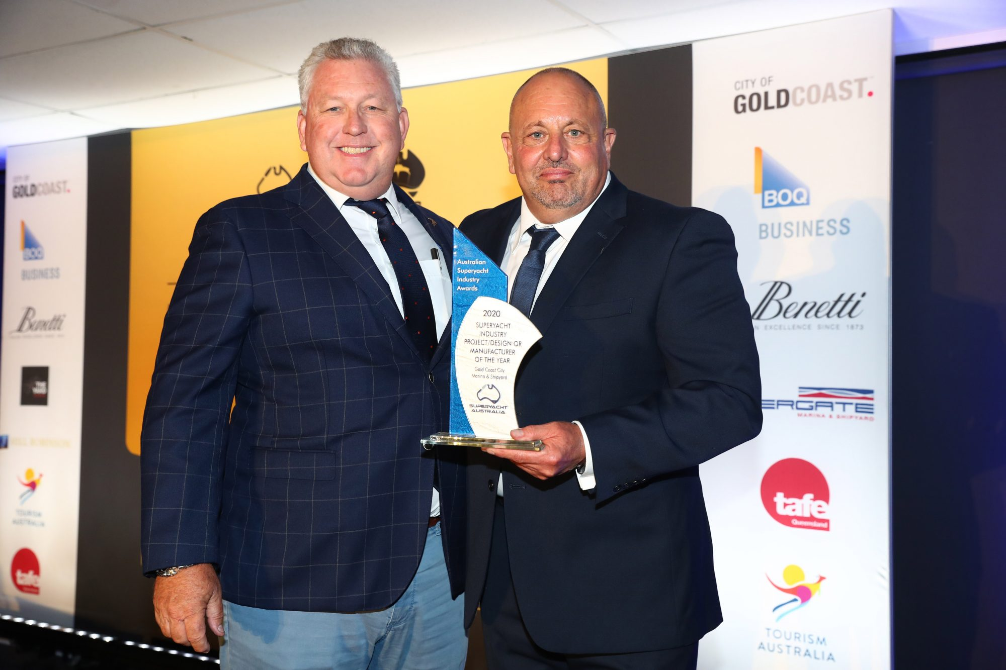 6. Trenton Gay and Kevin Altera – Gold Coast City Marina and Shipyard – Project Design or Manufacturer of the Year Winner