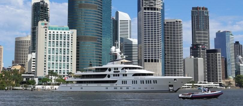 Aurora on Brisbane River cropped