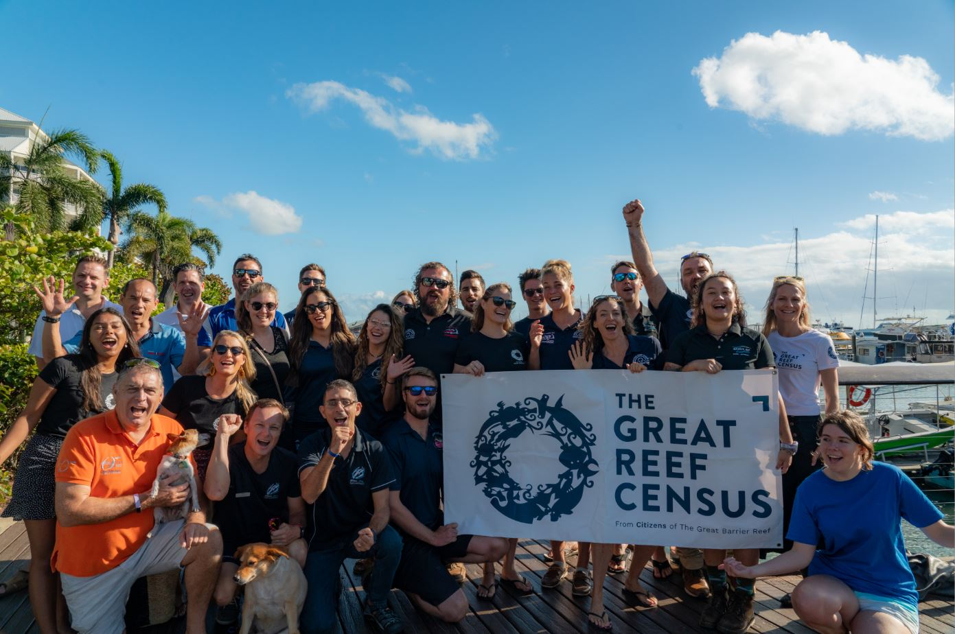 Great Reef Census Launch at the Cairns Marina. Credit Brad Fisher @ikatere_photography