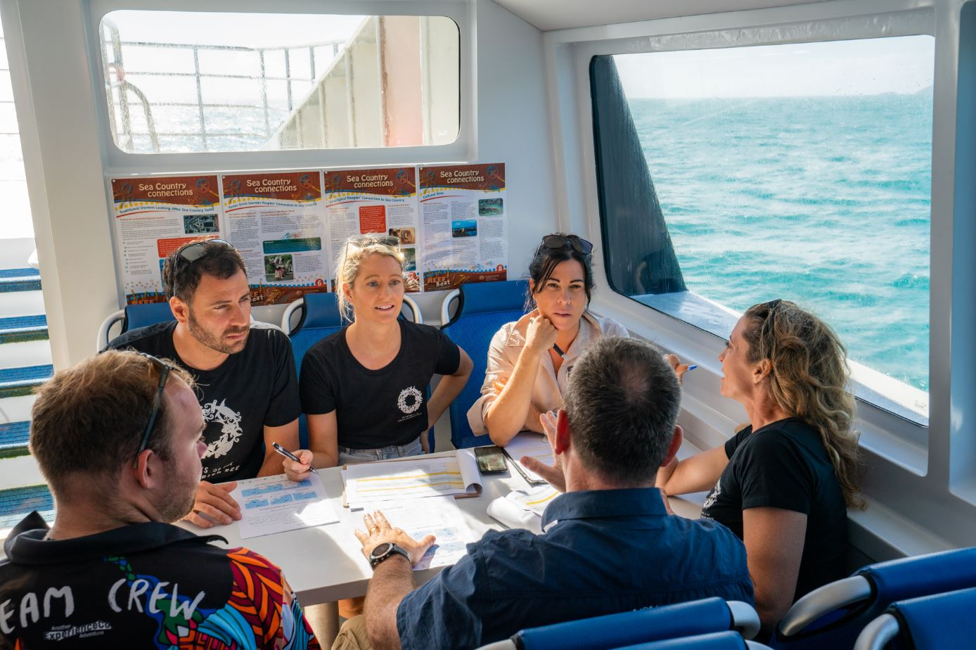 Great Reef Census project team planning the reef surveys 2 (Credit_ Brad Fisher)