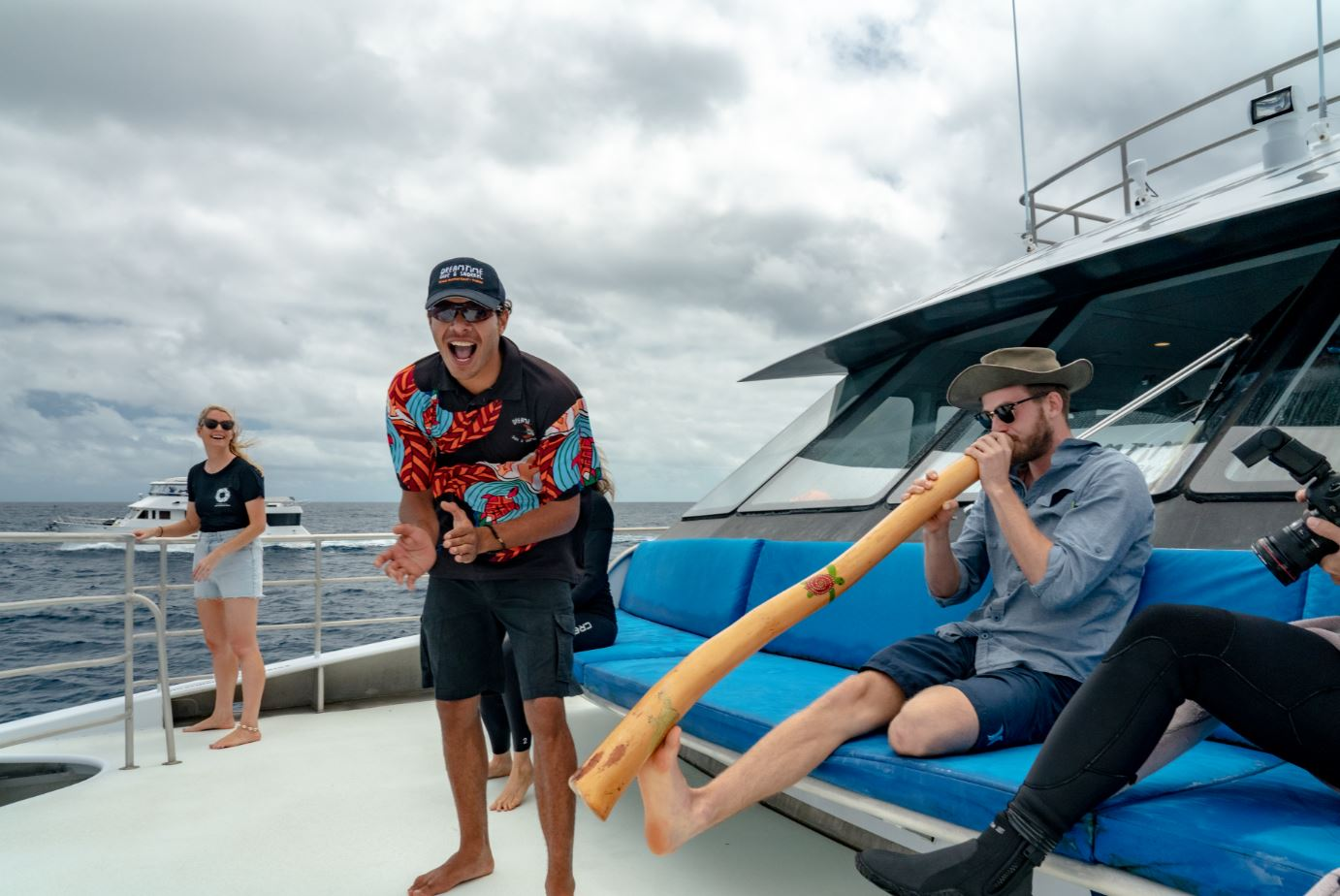 Ranger Blake Cedar from Dreamtime Dive & Snorkel excited to kick off the Great Reef Census (must credit_ Brad Fisher)