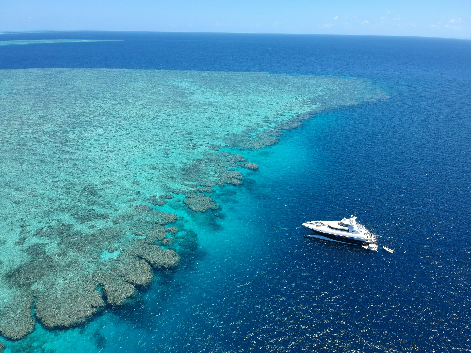 Spirit Luxury Charters on the reef